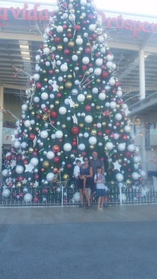 Gorgeous Christmas tree at the Galleria mall in Mazatlan