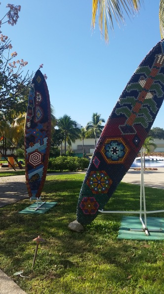 Native-inspired Huichol art on one of my runs