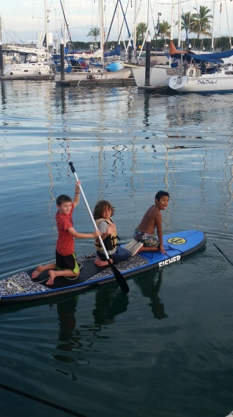 The tres amigos out for a sunset paddle